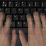 Fingers on home keys